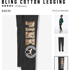 NEW LARGE VS PINK BLING LEGGING